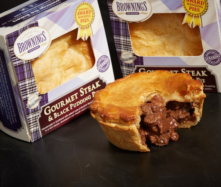 Gourmet Steak and Black Pudding Pie | Brownings the Bakers