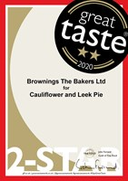 Great Taste 2020 - Cauliflower & Leek Pie